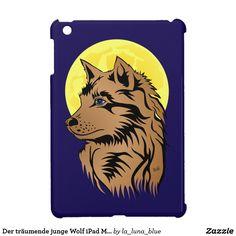 Der träumende junge Wolf iPad Mini Hülle Wolf, Ferrari Logo, Ipad Mini, Art, Wolves, Guys, Animals, Art Background, Kunst