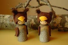 Owl Peg Dolls-I love them!