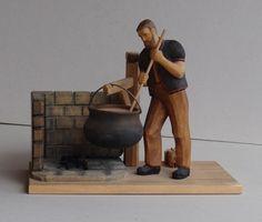 Senn beim K& - - 1 Wooden Figurines, Carving Wood, Objects, Antiquities, Kunst
