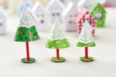Doily Christmas Trees