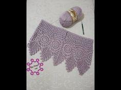 Gilet Crochet, Crochet Shawl, Crochet Stitches, Crochet Baby, Free Crochet, Crochet Top, Crochet Borders, Crochet Patterns, Knitted Slippers