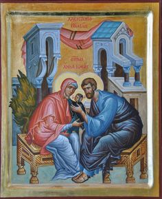 Joachim and Anne Caressing their daughter, the little Virgin Mary (Theotokos) / Οι δίκαιοι Ιωακείμ και Άννα, κρατώντας στην αγκαλιά του τη Θεοτόκο Μαρία Raphael Angel, Archangel Raphael, Roman Mythology, Greek Mythology, Queen Of Heaven, Byzantine Icons, Albrecht Durer, Holy Family, Orthodox Icons