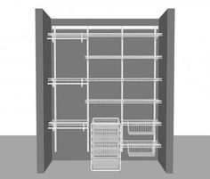 Adjustable closet layout 5, 1.83m / 6' wide