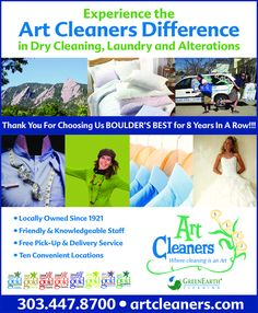 Art Cleaners - Boulder's Best for 8 Years In A Row!!!