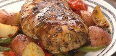 Honey Balsamic Sheet Pan Chicken - http://tiphero.com/honey-balsamic-sheet-pan-chicken/