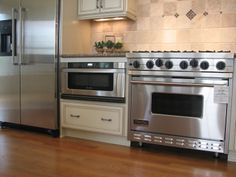not a drawer microwave but it is lower. If I have to have a free standing oven I would get a larger one like this