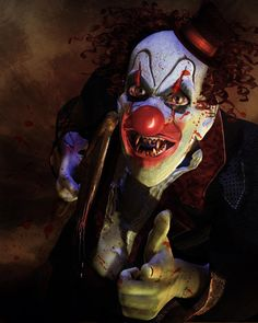 Scary Clown Pictures for Halloween Wicked Jester, Evil Jester, Insane Clown, Creepy Clown, Creepy Stuff, Scary Art, Very Scary, Scary Images, Scary Photos