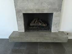 Tile Fireplace Hearth Concrete Board Formed Veneer Tile Fireplace Surround And Floating Hearth Modern Family Room Fireplace Tiled Hearth Contemporary Concrete, Modern Family Rooms, Photo Wall, Concrete Countertops, Hearth, Fireplace Tile Surround, Fireplace Hearth, Venetian Plaster, Polished Plaster