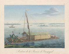 Radeau de la rivière de Guayaquil