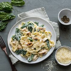 BUITONI® Fettuccine Alfredo with Chicken & Baby Spinach