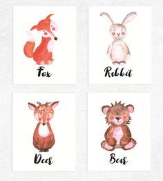 Woodland Animal Printables 4 Set   https://www.vivabop.co.uk/products/woodland-animals-printables-watercolour-4-set