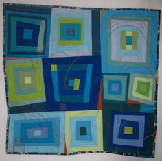 "Housetop quilt project by Debby Schnabel: ""This ... 
