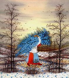 Ivan Lackovic Illustrations, Illustration Art, Sketch Painting, Naive Art, Cool Landscapes, Beautiful Paintings, Art Museum, Flower Art, Folk Art