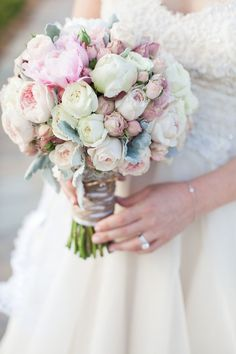 This bouquet is all sorts of gorgeous. Photography: Kelly Adams Photography - kellyadamsphotography.com.au, Floral Design: Pink & Purple Petals - http://www.pinkandpurplepetals.com Read More: http://www.stylemepretty.com/australia-weddings/2014/08/05/classic-country-wedding/