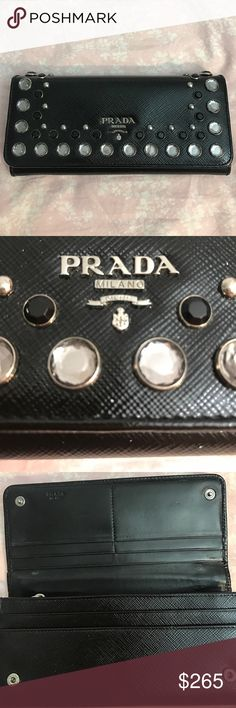 Prada Continental Wallet 100% Authentic Gorgeous Prada black patent saffiano leather wallet! It has been well loved, still in very good condition. Retails for more than $650. 100% guaranteed authentic! Please let me know if you have any questions! 💕❤ Prada Bags Wallets
