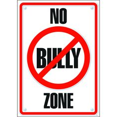This poster is just a reminder to students to not be a bully, since bullying is current and important issues schools face.