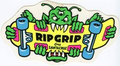 VTG SANTA CRUZ RIPGRIP RIP GRIP SMA SKATEBOARD OLD SCHOOL NOS SKATE STICKER 80's