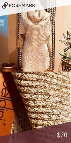 ❄️ Belldini 3/4 Sleeve Metallic Gold Cowl Neck❄️ ❄️🌬 Belldini 3/4 Sleeve Metallic Gold Cowl Neck Tunic Sweater 🌬❄️ New with Price Tags 🌬❄️ Belldini Sweaters Cowl & Turtlenecks