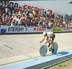 Francesco Moser during his 51.151km Hour Record ride