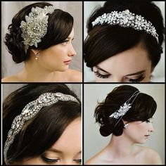 """Deco inspired crystal hair ribbons from Sara Gabriel's 2014 Collection  continue to be """"Best Sellers"""""""
