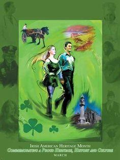 Item# Buttons & Bookmarks: National Irish American Heritage Month Commemorating a Proud Heritage. Roman Calendar, European American, Heritage Month, Irish Blessing, Irish Eyes, God Of War, Greek Gods, Poster, Bookmarks