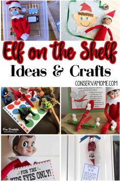 Looking for some fun Elf on the Shelf Ideas and Crafts then you've come to the right place. Here's a fun round up of elf on the shelf crafts and ideas that will be a blast and give you creative suggestions for your little friend that will last the whole month. #elfontheshelf