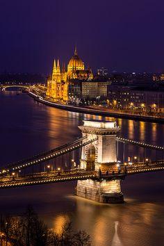 Pest from Buda #Budapest #Lanchid #Chainbridge #Danube #Travel #Pairlament #Parlament #Hungary #Magyarorszag
