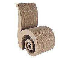 Chaise CHIOCCIOLA carton et bois, naturel - L40