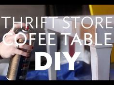 Thrift Store Coffee Table DIY