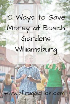 Ways to Save Money at Busch Gardens Williamsburg