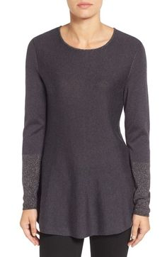 NIC+ZOE Primrose Metallic Knit Peplum Top (Regular & Petite) available at #Nordstrom