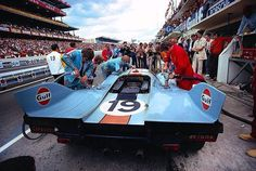 LM70 - Iconic & legendary Gulf Wyer Racing Team at Le Mans with her Porsche 917LH #lemans#lm24#24lm#lemans24#24hoursoflemans #24heuresdumans #6hoursnurburgring #nurburgring #6hours