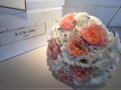 Vickys Flowers specialist wedding and event florist, first established Now freelance based in West Lothian Wedding Bouquets, Wedding Flowers, Flower Service, Creativity, Coral, Peach, Style, Swag, Wedding Brooch Bouquets
