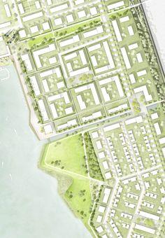 prize: Atelier LOIDL Landschaftsarchitekten Berlin GmbH - Get your new Accessorie NOW with a 25 Discount cod Fantasy Landscape, Urban Landscape, Landscape Architecture, Landscape Designs, Architecture Design, Urbane Analyse, Masterplan, Urban Design Plan, Social Housing