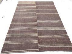 "Oversize Stripe Rug,9,9""x13"" Feet 298x398 Cm Vintage Living Room Floor Decor Exsra Large Turkish Kilim Rug,Anatolian Nomadic Woven Kilim Rug"