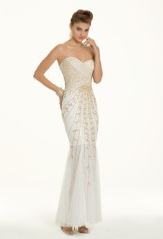 Beaded Trumpet Skirt Dress from Camille La Vie and Group USA