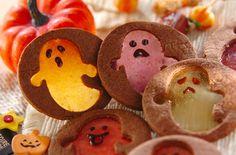 サクサクのクッキーとパリパリのキャンディー♪ハロウィンにピッタリの、カラフルなおばけの形のクッキーです。