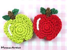 Applikationen Häkelsortiment Häkel Mix Apfel von Home Artist auf DaWanda.com