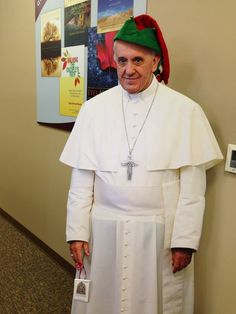 Christmas and Pope Francis... This is cute...