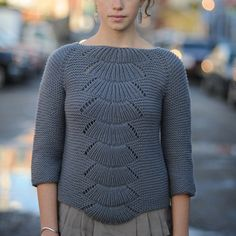 camilla pullover - Quince and Co Tricot Femme, Pull Lâche, Pull Gris,  Camilla 290331452e9d