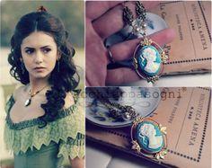 The Vampire Diaries jewelry Katherine Pierce necklace - Cameo - Sun Protection