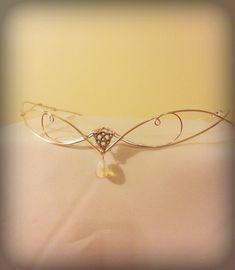 Medieval Renaissance circlet tiara ARWEN moonstone wedding crown