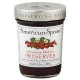 I'm learning all about American Spoon Preserves Early Glow Strawberry at Rhubarb Preserves, Strawberry Preserves, Cooking Sauces, Sour Cherry, Spoon, Cool Things To Buy, Glow, Fruit