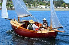 Skye, William Garden designed canoe yawl, restored by Marty Loken of Island Boat Shop, Nordland, Washington, USA.