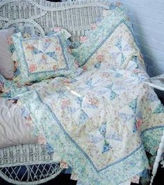 Pastel Pinwheel Quilt and Pillow  Project courtesy of Jo-Ann Fabric & Craft StoresSkill Level: Some experience necessary  (1) Crafting Time: Varies Skill Level: Some experience necessary  add to project list