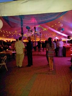 tent night time view