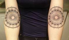 My two mandalas done by Sylvie le Sylvie at Tatouage Royal. She did a phenomenal job, couldn't love them any more.ghxst.tumblr.com