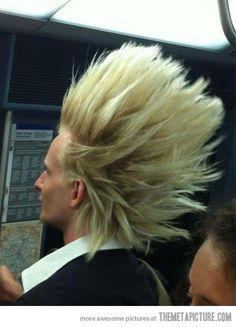 Super Saiyan hair in real life…