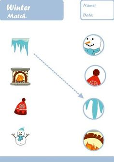 Winter Worksheets Age 3-4