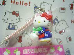 GOTOCHI HELLO KITTY Kawaii Mascot Strap Turnip KAGOSHIMA JAPAN Sanrio 2002